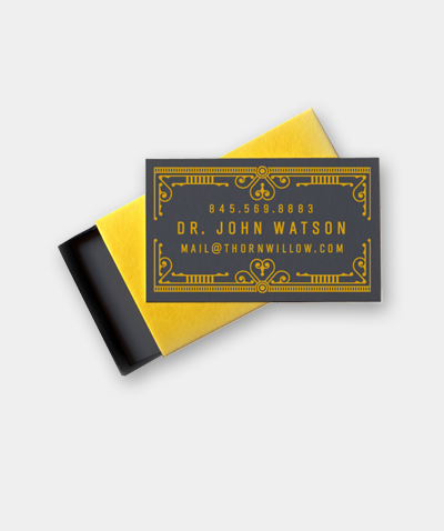 Thornwillow's Mini Business Cards