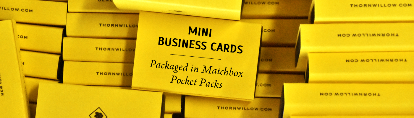 Mini Business Cards - Matchbox Packs